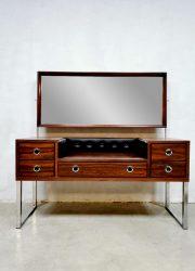 vintage design rosewood dressing table palissander kaptafel 1970 5