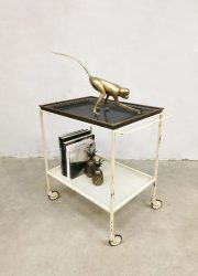 midcentury serveerwagen trolley liquor cabinet Mathieu Mategot Ateliers Mategot Artimeta style