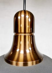 midcentury copper Dutch design pendant Raak hanglamp