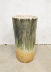 Vintage design cermic vase glazed planter vaas XXL 'earth tones' umbrella stand