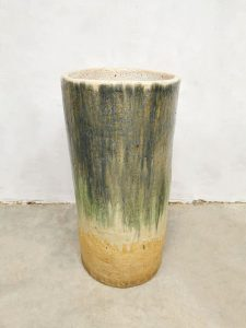 Vintage design cermic vase glazed planter vaas XXL 'earth tones' umbrella stand