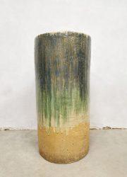 Vintage glazed planter geglazuurde plantenbak XXL 'earthy tones'