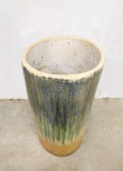 Vintage design glazed planter geglazuurde plantenbak XXL 'earthy tones' umbrella stand