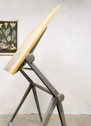 Dutch design drawing table Friso Kramer Ahrend de Cirkel tekentafel industrieel