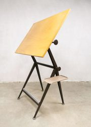 Industriële Industrial drawing table Friso Kramer Ahrend de Cirkel tekentafel brown
