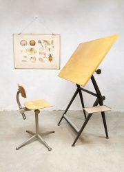 Industrial Dutch design drawing table tekentafel Friso Kramer Ahrend de Cirkel