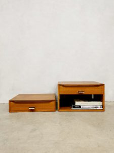 Midcentury Danish design floating night stands nachtkastjes