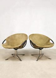 Erzeugnis Germany vintage swivel chairs balloon chair