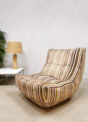 Chateaux D'ax France design easy chair lounge fauteuil 'Multi color stripes'