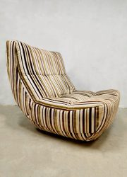 striped fabric Chateaux D'ax France design easy chair lounge fauteuil modular chair sofa