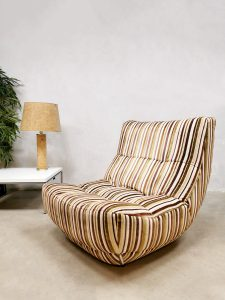 Chateaux D'ax France design easy chair lounge fauteuil 'Multi color stripes'