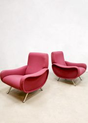Midcentury Italian design lady Armchair lounge fauteuil by Marco Zanuso for Arflex