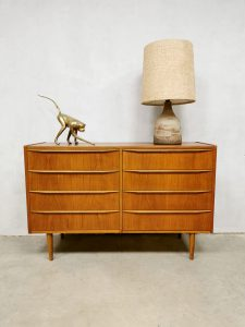 Midcentury Danish design 'double' chest of drawers cabinet ladekast