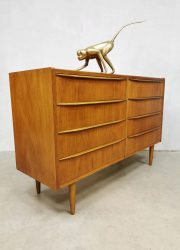 vintage teak danish design chest of drawers cabinet deense ladenkast teak