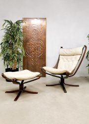 Vintage Falcon easy chair & ottoman lounge chair Sigurd Resell Vatne Møbler