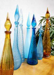 Midcentury Italian design Genie bottles Italiaanse flessen karaffen