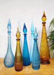 Midcentury Italian design Genie bottle Italiaanse fles karaf