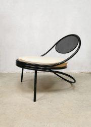 vintage metal minimal chair Copacabana Mathieu Mategot metal chair fitfties design