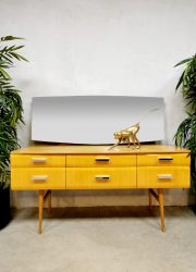 Vintage 'gloss maple' dressing table kaptafel Loebenstein Meredew Ltd.