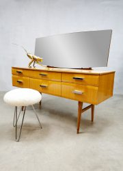 Alphons Loebenstein vintage dressing table wood kaptafel spiegel
