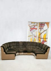 Midcentury modular sofa modulaire bank seating group 'snake harmonica'