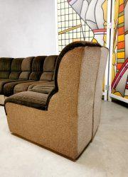 vintage modular sofa modulaire bank brown