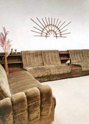 modulaire sofa modular bank brown fabric lounge seat