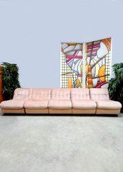 Midcentury modular sofa modulaire elementen bank 'Soft pink'