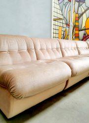 soft pink modular sofa elementen bank vintage retro