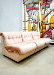 vintage modular sofa soft pink modulaire elementenbank