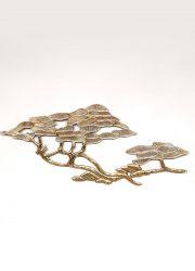 Midcentury design brass 'Bonsai Tree' wall sculpture wandsculptuur Bijan