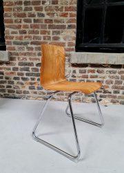 Vintage eetkamer stoel industrieel Industrial dinner chair Galvanitas