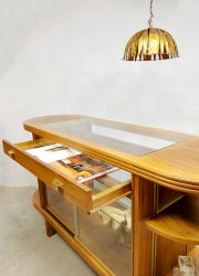 toonbank vitrinekast midcentury design display cabinet shop counter