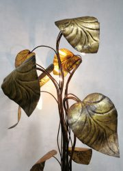 vintage design floor lamp gold gilded leaf