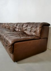 leather patchwork DS 11 De Sede modular sofa lounge bank retro leer