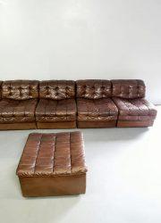midcentury vintage design de Sede DS11 modular sofa modulaire lounge bank