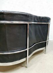 chrome black leather sofa loveseat bank 'Minimalism' (5)
