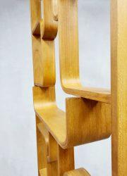 midcentury design wall unit Ludvik Volak room divider Drevopodnik Holesov midcentury modern