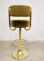 Zweedse vintage design Borje Johanson krukken mancave kruk stool
