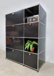 Industrial vintage design wall system cabinet wall unit USM Haller wandsysteem wandkast industrieel