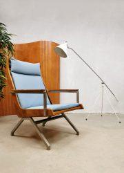 Midcentury Dutch design 'Lotus' armchair lounge fauteuil Rob Parry Gelderland