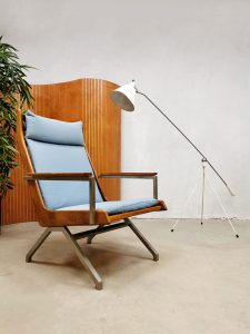 Midcentury Dutch design 'Lotus' armchair lounge fauteuil Rob Parry Gelderland