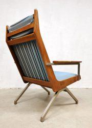Midcentury vintage Dutch design 'Lotus' armchair lounge fauteuil Rob Parry Gelderland