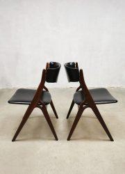 midcentury Dutch design dining chairs eetkamerstoelen Webe Louis van Teeffelen