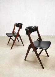 vintage Webe design dining chairs eetkamerstoelen Louis van Teeffelen