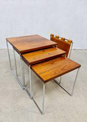 Brabantia magazine holder nesting table lectuurbak wood bijzettafeltjes midcentury design retro