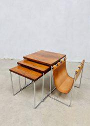 Vintage Dutch design mimiset nesting tables bijzettafels Brabantia