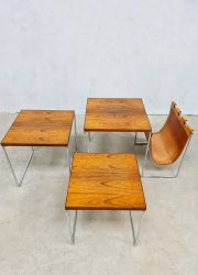 vintage Brabantia magazine holder nesting table lectuurbak wood bijzettafeltjes midcentury design 3