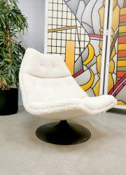 vintage design ladies chair F511 Artifort Geoffrey Harcourt draaifauiteuil boucle
