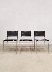 vintage dutch design Martin Visser dining chairs spectrum eetkamerstoelen SZ06